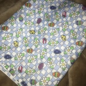Easter Egg Gingham Daisy Fabric